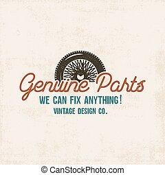 rendbehozás, klasszikus, elkezdődik, colors., treff, design., mód, eredeti, szolgáltatás, szüret, címke, alkatrészek, retro, jó, shirt., autók, cégtábla., műhely, aukció, autó, nyomdászat, vektor