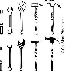 rendbehozás, megtölt rajzóra, eszközök