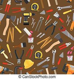 rendbehozás, szerszám, motívum, munka, seamless, eszköz