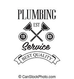 rendbehozás, tervezés, szolgáltatás, szöveg, búvárok, aláír, fekete, csőhálózat házi, sablon, keresztbe tett, fehér, minőség, helyreállítás, legjobb