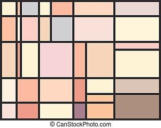 rendellenes, motívum, foltos, többszínű, pohár ablak, tömb
