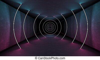 render, τοίχοs , αφαιρώ , μοντέρνος , νέο , interrior, απόδοση , ευφυής , άποψη , φωταψία , τεχνολογία , template., design., πνεύμονες ζώων , αντανάκλαση. , λαμπερός , φόντο. , λάμπα , retro , δίδρομος , interior., εσωτερικός , γεωμετρικός , 3d , αόρ. του lead , backdrop. , μπαστούνι , νύκτα , show., 80s , lines., φθορίζων , λάμπω , wallpaper., λέηζερ , δωμάτιο , τούνελ , ζωηρός , matte , ηλεκτρικός , μπετό , αρχιτεκτονική , ελαφρείς , ακαταλαβίστικος , colors.
