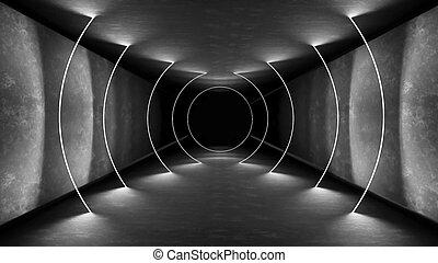 render, 壁, 抽象的, 現代, ネオン, interrior, レンダリング, 明るい, 見通し, 明り, 技術, template., design., ライト, 反射。, 白熱, バックグラウンド。, ランプ, レトロ, 廊下, interior., 内部, 幾何学的, 3d, リードした, 背景。, クラブ, 夜, show., 80s, lines., 蛍光, 白熱, wallpaper., レーザー, 部屋, トンネル, 活気に満ちた, 光沢がない, 電気である, コンクリート, 建築, ライト, 未来派, colors.