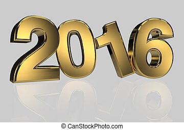 render, 金, 3, 高く, 年, 新しい, 2016, 次元, resulation