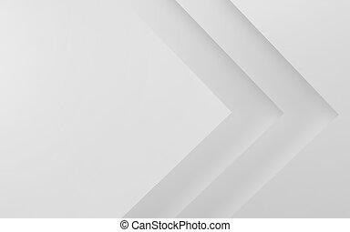 render, abstrakt, geometrisch, hintergrund., weißes, 3d