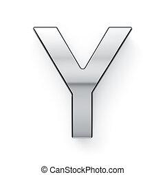 render, alphabet, -, metalic, lettre, simbol, 3d