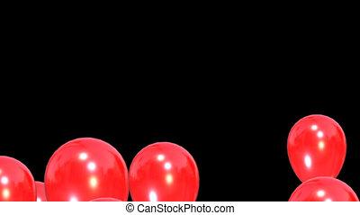 render, aufgehen, auf, channel., ballons, alpha, 3d