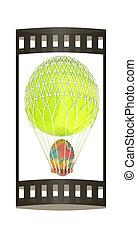 render, balloon, stavět na odiv, horký, egg., velikonoční, 3