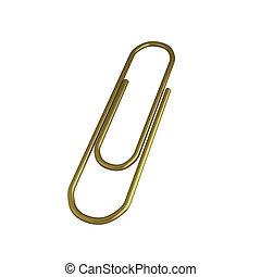 render, branca, clip, ouro, 3d