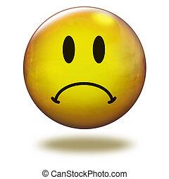 Render emoticon 3D. Sad