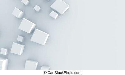 render, forme, animation, blanc, géométrique, boucle, 3d