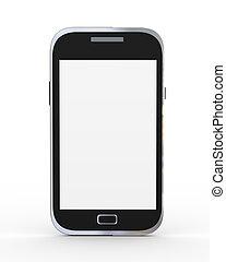 render, générique, téléphone, mobile, intelligent, 3d