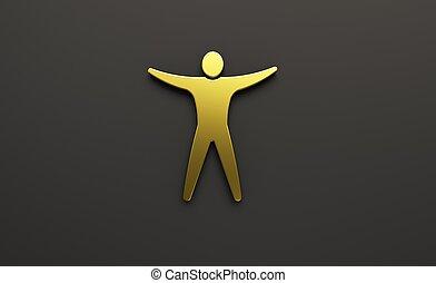render, illustration, arms., person, åbn, 3
