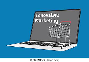 Innovative Marketing concept - Render illustration of ...