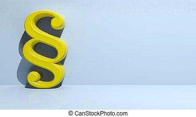 render, lumière, symbole, jaune, paragraphe, fond, 3d