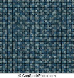render, mózesi, blue közfal, emelet, nagy, 3