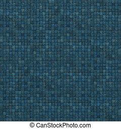 render, mózesi, kék, rendkívüli, fal, emelet, nagy, 3