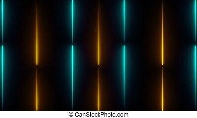 render, néon, 3d, fond, grille, ordinateur a engendré, lignes