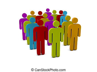 group of people - render of a group of people