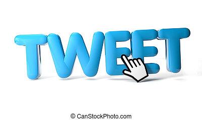 tweet - render of a tweet icon