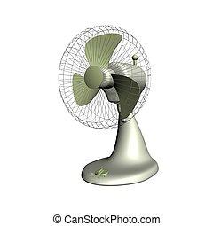 Render of electrical fan