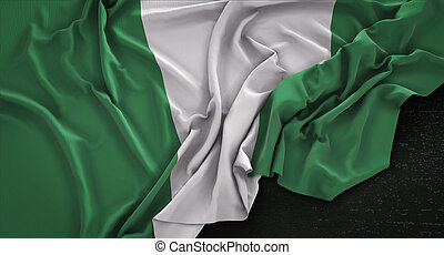 render, oscuridad, bandera, plano de fondo, arrugado, ...