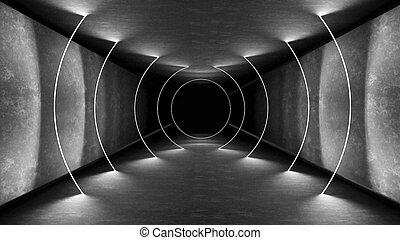 render, parete, astratto, moderno, neon, interrior, interpretazione, luminoso, prospettiva, illuminazione, tecnologia, template., design., luci, riflessione., ardendo, fondo., lampada, retro, corridoio, interior., interno, geometrico, 3d, condotto, sfondo., club, notte, show., 80s, lines., fluorescente, splendore, wallpaper., laser, stanza, tunnel, vibrante, metallina, elettrico, concreto, architettura, luce, futuristico, colors.