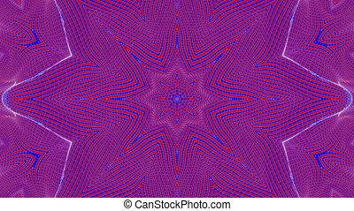 render, résumé, patterns., kaleidoscope., animé, red-blue, 3d
