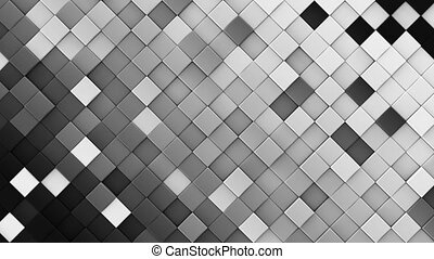 render, rhombs, loopable, animation, noir, blanc, 3d