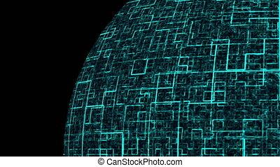 render, symbool, globaal, ruimte, communicatie, bol, genereren, computer, achtergrond, technologie, 3d