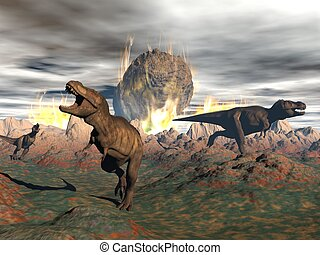 render,  tyrannosaurus,  -, dinozaur,  exctinction,  3d