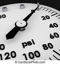 Rendered 3d partial pressure gauge