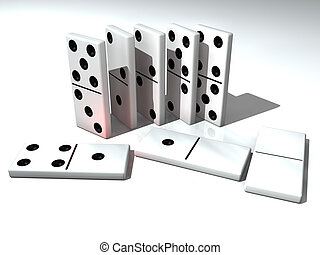 Rendered Dominos - Domino is funny game