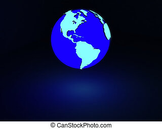 earth with neon glow