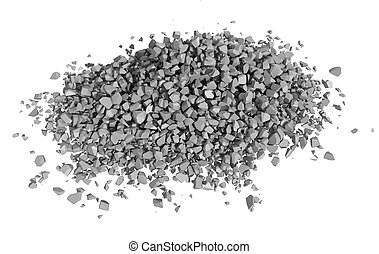 Rendered Image of Rock Rubble - Rock rubble and pebbles in a...