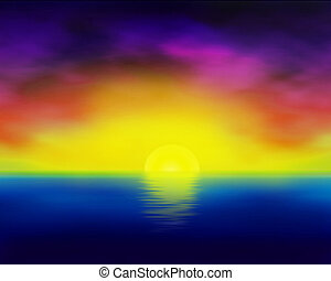 Rendered Sunset - Photoshop file. Filters. Plugins. Rendered...