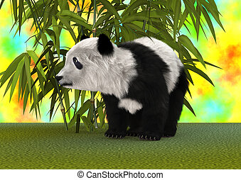 rendering, 熊貓狗熊, 3d