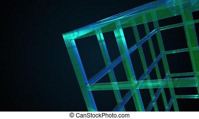 rendering., arc-en-ciel, 3d, verre, composition, résumé, fond, ordinateur a engendré