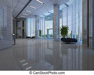 empty hall interior