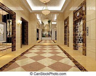 empty lobby interior