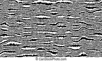 rendering., engendré, blanc, 3d, noir, horizontal, mouvement, boucle, lignes, informatique, animation., arrière-plan.