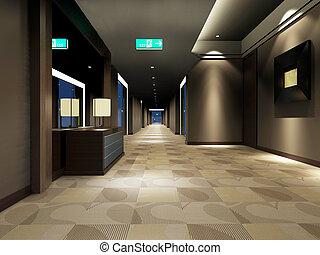 Rendering modern corridor