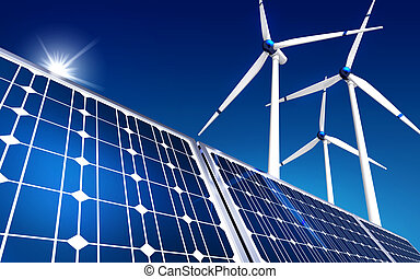 green energy - rendering of a green energy concept
