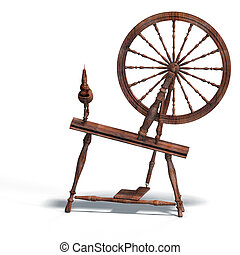 spinning wheel - rendering of spinning wheel with Clipping ...