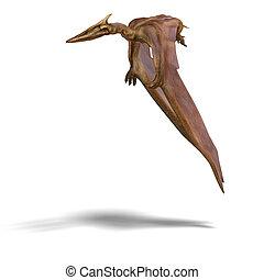 Quetzalcoatlus - rendering of the flying dinosaur ...