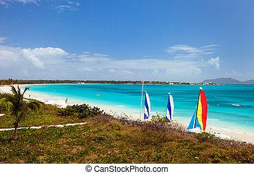 Stunning Rendezvous Bay beach on Caribbean island of Anguilla