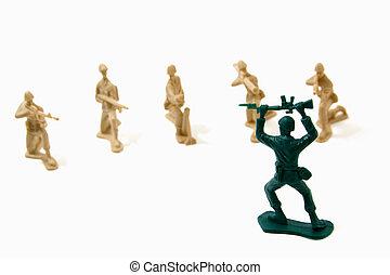 rendição, conceito, -, exército, homens