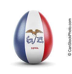 rendido, iowa, muy, egg.(series), realista, bandera