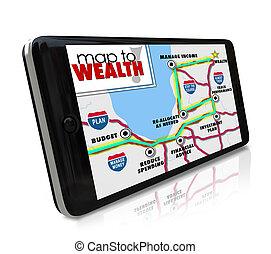 rendimento, global, dinheiro, investimento, riqueza, liderar, sistema, ganhando, outro, tu, esperto, gps, mapa, telefone, dispositivo, carreira, posicionar, móvel, renda, mais, navegação, ou, lucros