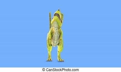 rendre, 3d, cg, tyrannosaurus